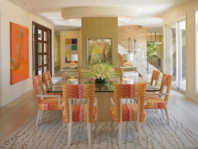 Trang trí phòng ăn với tông màu cam rực rỡ chính là xu hướng của mùa hè năm nay - Ảnh 3.