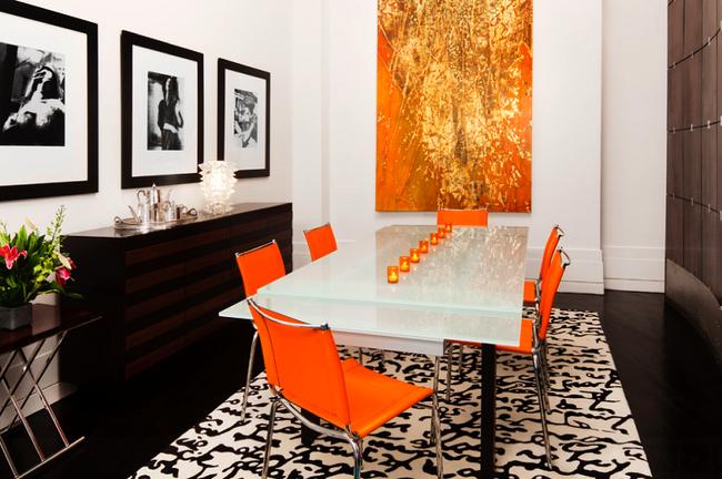 Trang trí phòng ăn với tông màu cam rực rỡ chính là xu hướng của mùa hè năm nay - Ảnh 4.
