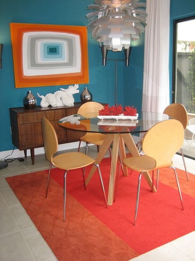 Trang trí phòng ăn với tông màu cam rực rỡ chính là xu hướng của mùa hè năm nay - Ảnh 7.