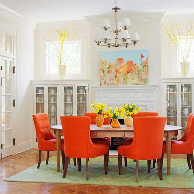 Trang trí phòng ăn với tông màu cam rực rỡ chính là xu hướng của mùa hè năm nay - Ảnh 11.
