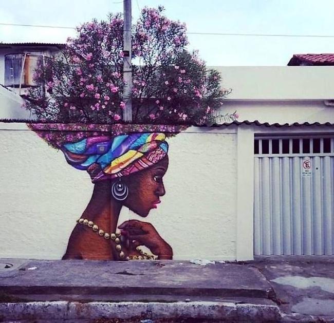 Nghệ thuật đường phố siêu sáng tạo nhờ kết hợp với thiên nhiên xung quanh - Ảnh 2.