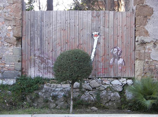 Nghệ thuật đường phố siêu sáng tạo nhờ kết hợp với thiên nhiên xung quanh - Ảnh 4.