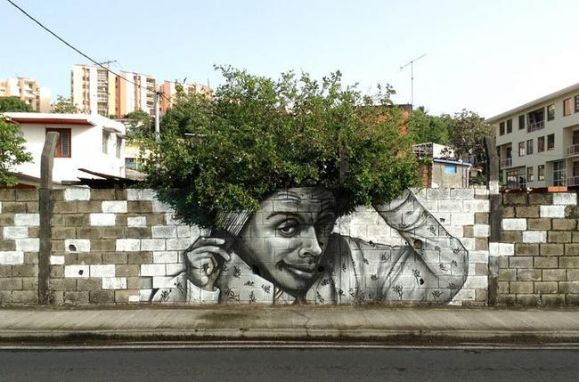 Nghệ thuật đường phố siêu sáng tạo nhờ kết hợp với thiên nhiên xung quanh - Ảnh 8.