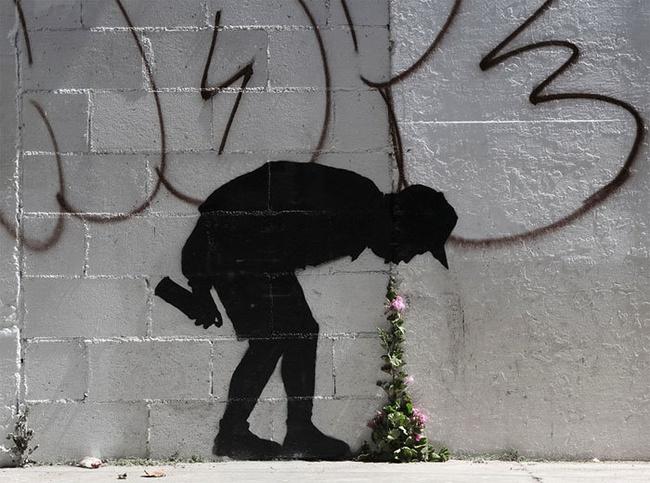 Nghệ thuật đường phố siêu sáng tạo nhờ kết hợp với thiên nhiên xung quanh - Ảnh 9.