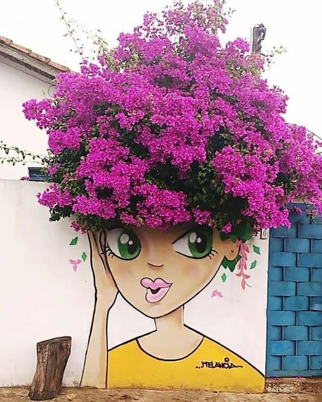 Nghệ thuật đường phố siêu sáng tạo nhờ kết hợp với thiên nhiên xung quanh - Ảnh 15.
