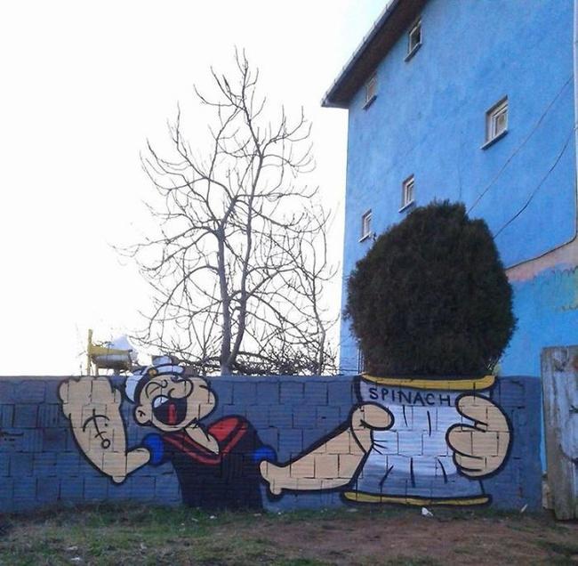 Nghệ thuật đường phố siêu sáng tạo nhờ kết hợp với thiên nhiên xung quanh - Ảnh 16.