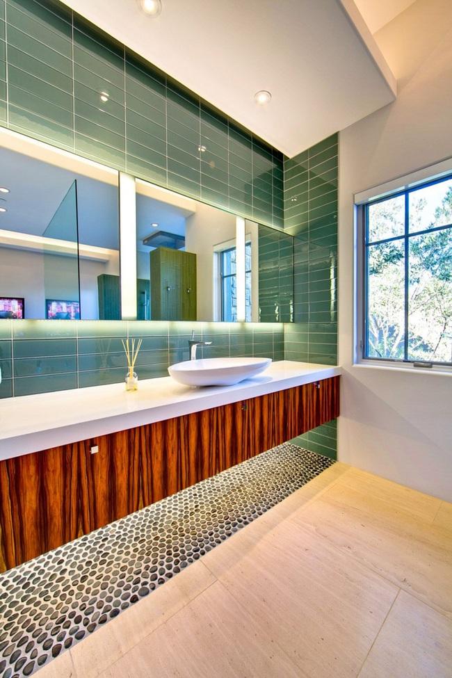 Mách bạn tuyệt chiêu trang trí cho nhà tắm vừa đẹp vừa deep - Ảnh 2.