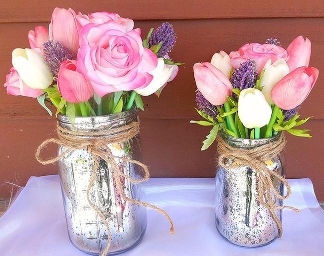 Cắm hoa trang trí nhà xinh không tưởng bằng lọ thủy tinh mộc mạc - Ảnh 6.