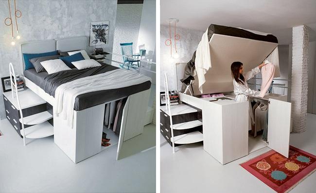 13 mẫu giường ngủ thông minh dành cho phòng ngủ nhỏ - Ảnh 4.