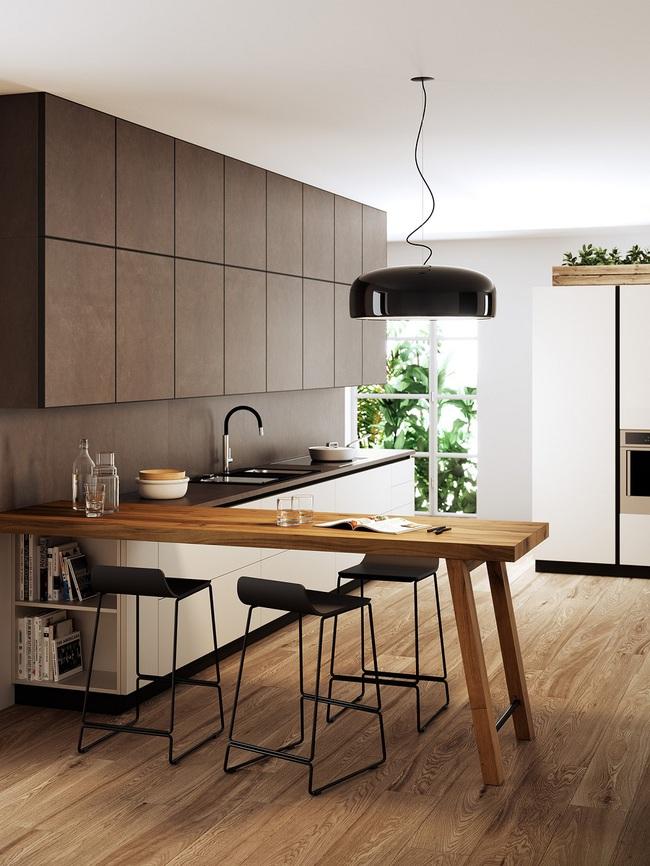 Chưa bao giờ thiết kế phòng bếp đơn giản thế, chỉ một cái bàn nhỏ bạn đã có cho riêng mình một thế giới rồi - Ảnh 2.