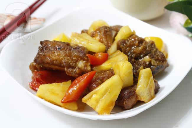 Đổi món cho bữa tối với sườn rim dứa chua ngọt hao cơm - Ảnh 7.