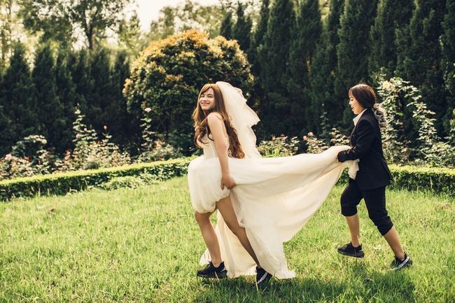 Cặp đôi có bộ ảnh cưới chú rể xinh hơn cô dâu tiết lộ chuyện ngoài đời cũng nhiều trái khoáy - Ảnh 3.