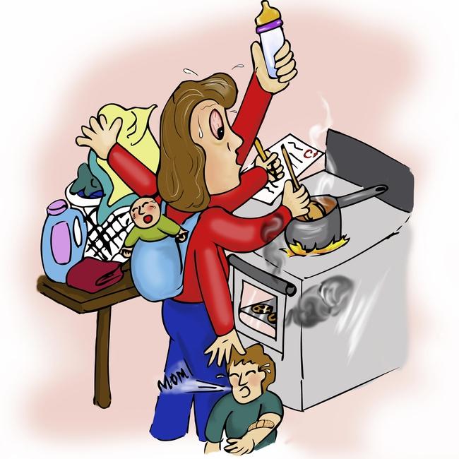 Bức ảnh đập tan suy nghĩ cho rằng ở nhà chăm con là có làm gì đâu - Ảnh 3.