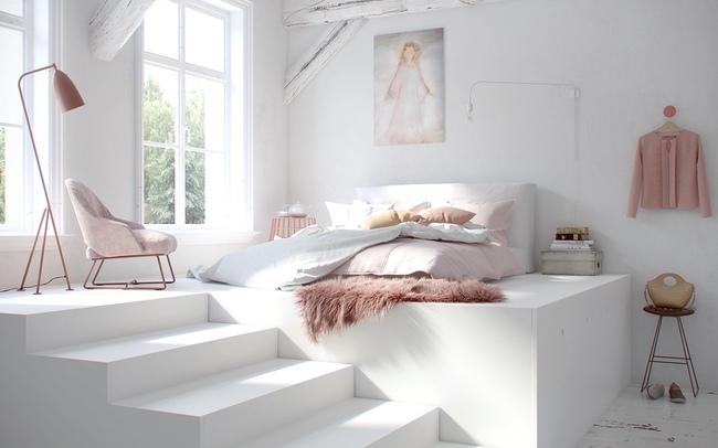 17 thiết kế phòng ngủ với gam màu trắng khiến bạn không thể không yêu - Ảnh 1.