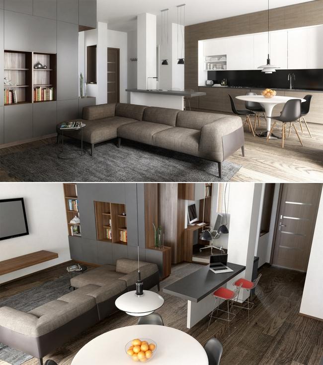 Tư vấn thiết kế căn hộ 65m² tiện nghi cho chàng trai gần 30 tuổi chưa vợ - Ảnh 1.