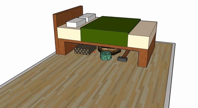 Cất đồ dưới gầm giường là bạn đang tự hại mình - Ảnh 2.
