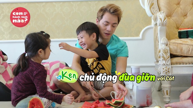 Gia đình Đăng Khôi, Huy Khánh mệt bở hơi tai khi lần đầu cho các nhóc tì gặp nhau - Ảnh 1.