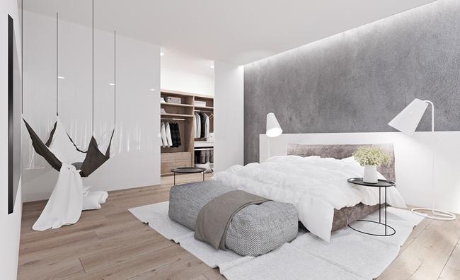 17 thiết kế phòng ngủ với gam màu trắng khiến bạn không thể không yêu - Ảnh 11.