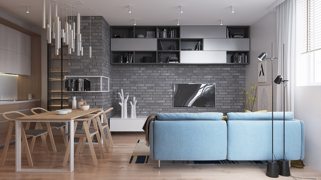 Thiết kế tường gạch độc đáo giúp phòng khách đẹp đến khó tả - Ảnh 11.