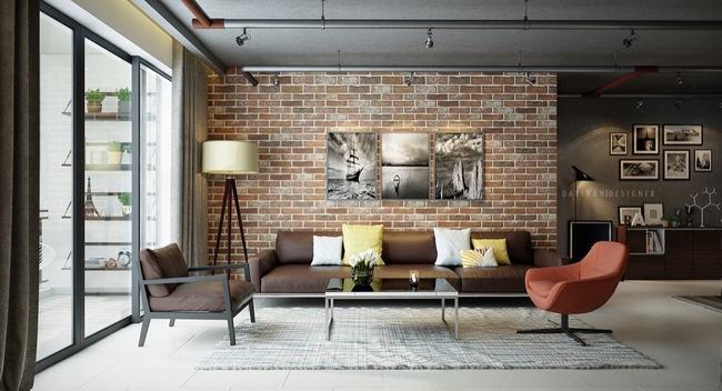 Thiết kế tường gạch độc đáo giúp phòng khách đẹp đến khó tả - Ảnh 12.