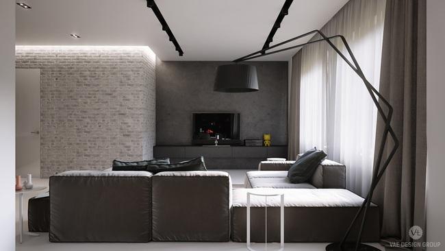 Thiết kế tường gạch độc đáo giúp phòng khách đẹp đến khó tả - Ảnh 14.