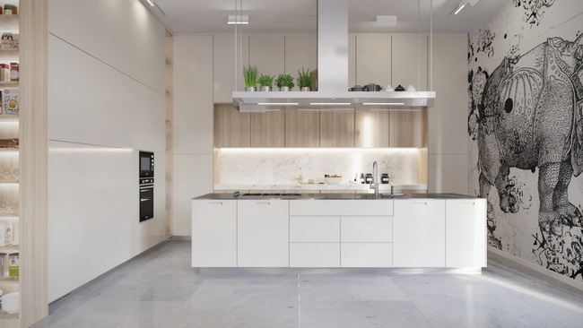 15 căn bếp hiện đại với sắc trắng tinh tế và vô cùng bắt mắt - Ảnh 14.