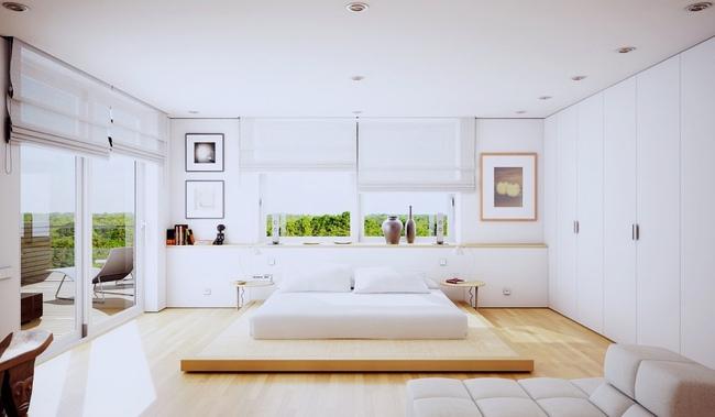 17 thiết kế phòng ngủ với gam màu trắng khiến bạn không thể không yêu - Ảnh 15.