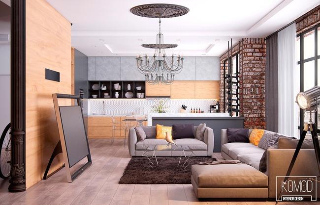 Thiết kế tường gạch độc đáo giúp phòng khách đẹp đến khó tả - Ảnh 15.