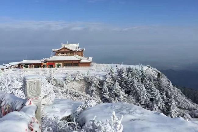 Tuyết phủ trắng núi Nga Mi - Ảnh 3.