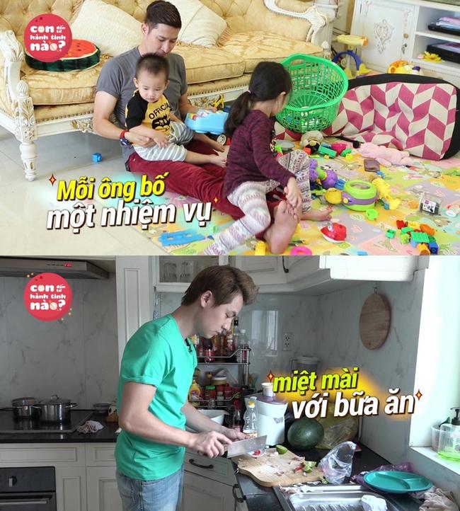 Gia đình Đăng Khôi, Huy Khánh mệt bở hơi tai khi lần đầu cho các nhóc tì gặp nhau - Ảnh 3.