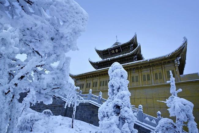 Tuyết phủ trắng núi Nga Mi - Ảnh 4.