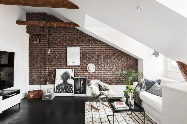 Thiết kế tường gạch độc đáo giúp phòng khách đẹp đến khó tả - Ảnh 4.