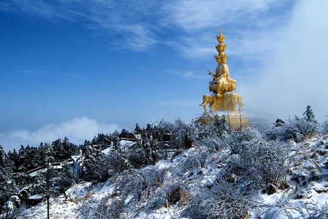 Tuyết phủ trắng núi Nga Mi - Ảnh 5.