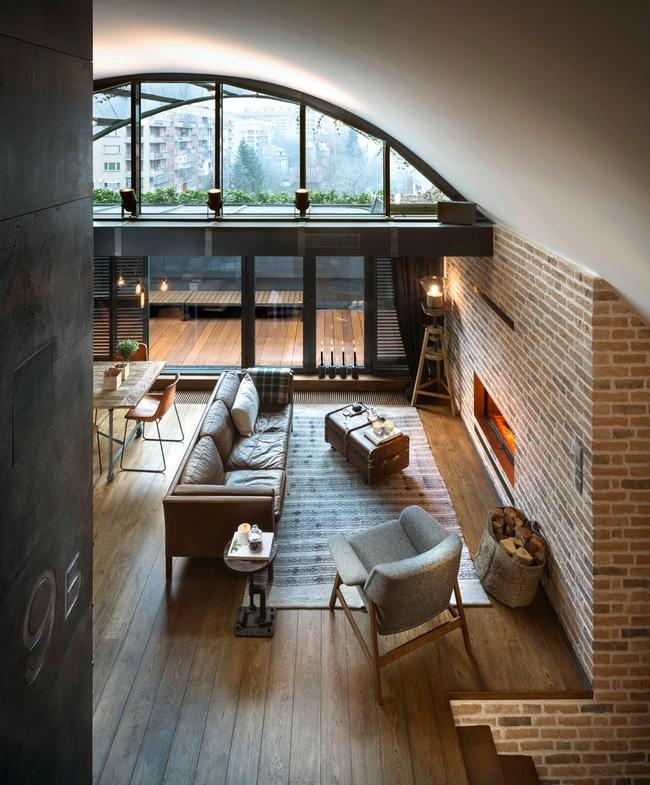 Thiết kế tường gạch độc đáo giúp phòng khách đẹp đến khó tả - Ảnh 5.