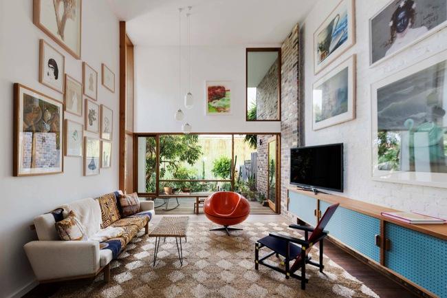 Thiết kế tường gạch độc đáo giúp phòng khách đẹp đến khó tả - Ảnh 6.