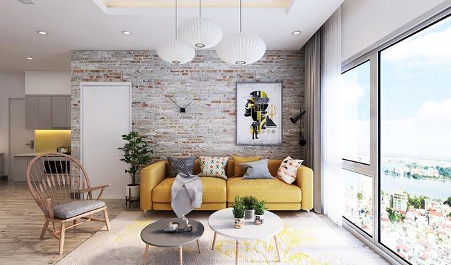 Thiết kế tường gạch độc đáo giúp phòng khách đẹp đến khó tả - Ảnh 7.