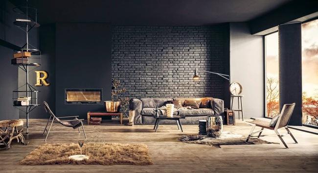 Thiết kế tường gạch độc đáo giúp phòng khách đẹp đến khó tả - Ảnh 10.