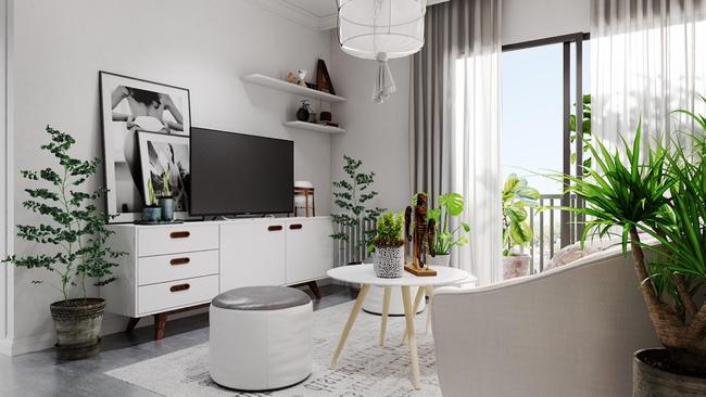 Chỉ sử dụng 2 màu trắng - xám nhưng căn hộ này chất đến độ chẳng chê được điểm nào - Ảnh 3.