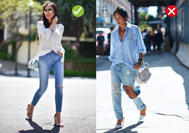 Đến quần jeans dáng sơ bản cũng có kiểu chuẩn xu hướng, kiểu không - Ảnh 1.