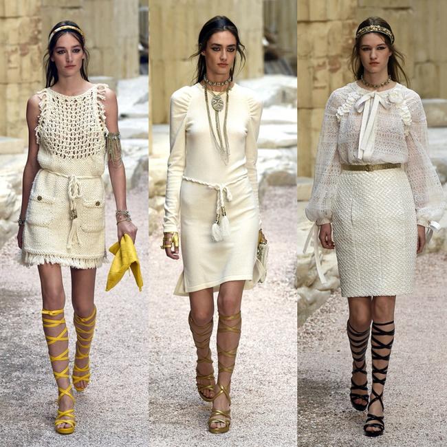 Hết đưa người xem lên vũ trụ, Chanel lại biến runway thành Hy Lạp cổ đại - Ảnh 12.