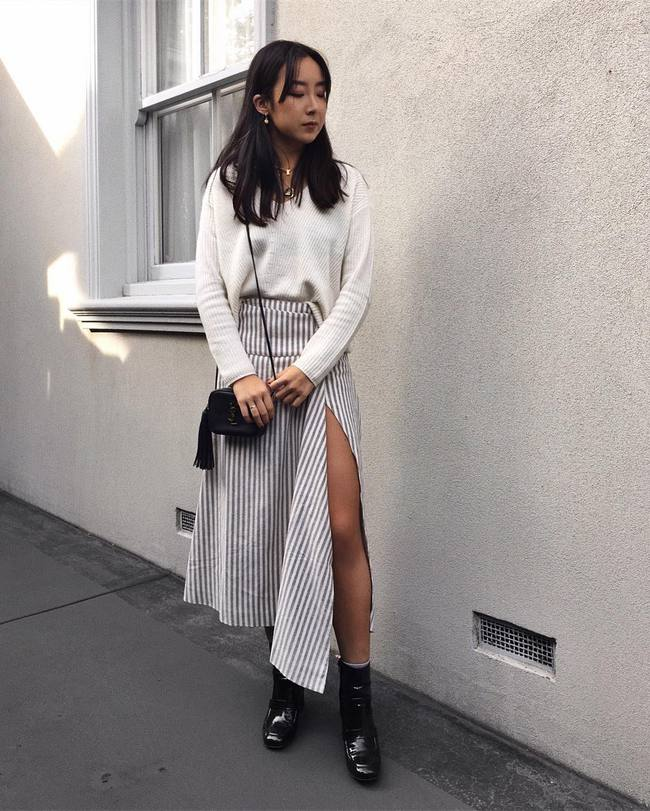 Street style các quý cô châu Á: Vừa điệu đà vừa sexy hết nấc! - Ảnh 16.