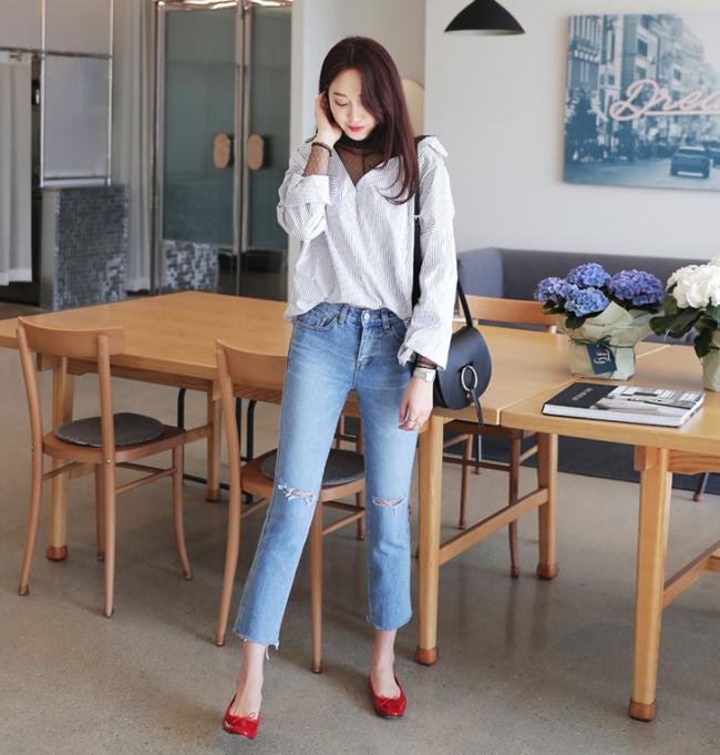 Điểm qua một vài cách diện đồ hay ho với cặp đôi kinh điển: quần jeans và sơmi - Ảnh 24.