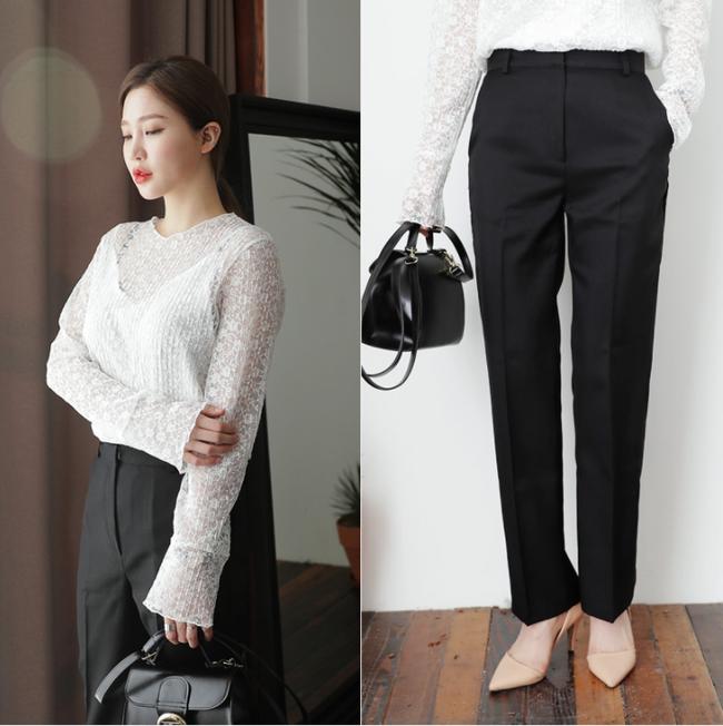 Diện quần dài vào mủa nắng nóng sẽ không còn là nỗi ám ảnh nhờ những mẫu quần jeans, quần vải này - Ảnh 9.