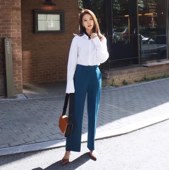 Diện quần dài vào mủa nắng nóng sẽ không còn là nỗi ám ảnh nhờ những mẫu quần jeans, quần vải này - Ảnh 10.