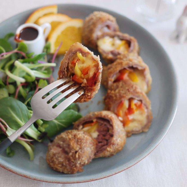 Món ngon cuối tuần: Bò cuộn phô mai - Ảnh 7.
