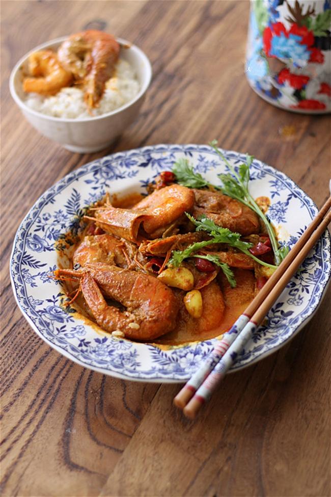 Thơm lừng khó cưỡng món tôm nấu cà ri - Ảnh 5.