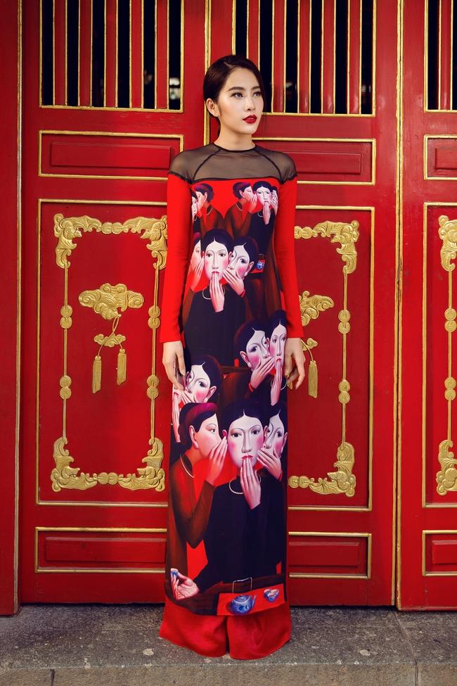 Hoa khôi Nam Em khoe vóc dáng nuột nà trong áo dài truyền thống - Ảnh 6.