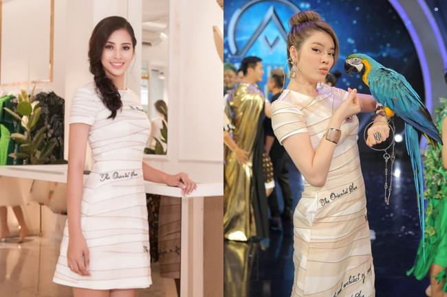 Mới đăng quang chưa đầy 1 tháng, HH Trần Tiểu Vy đụng váy áo liên hoàn với cả loạt người đẹp Vbiz - Ảnh 6.