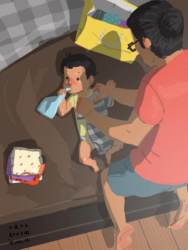 Ngắm khoảnh khắc bố chăm con ngọt ngào đến tan chảy, các mẹ mới nhận ra các bố cũng khéo lắm chứ! - Ảnh 14.