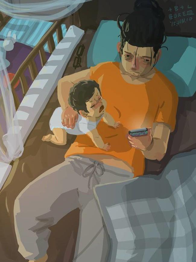 Ngắm khoảnh khắc bố chăm con ngọt ngào đến tan chảy, các mẹ mới nhận ra các bố cũng khéo lắm chứ! - Ảnh 22.